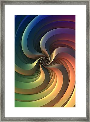 Framed Print featuring the digital art Maelstrom by Lyle Hatch