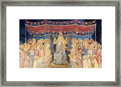 Maesta Framed Print by Simone Martini