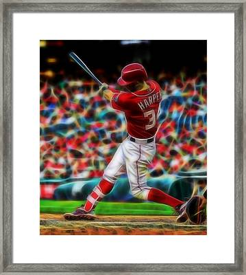 Magical Bryce Harper Framed Print by Paul Van Scott