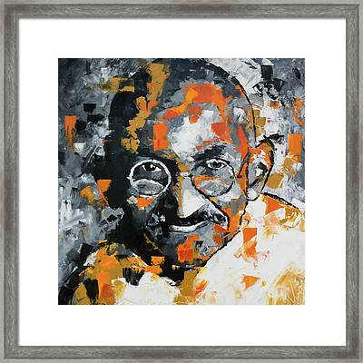 Mahatma Gandhi Framed Print by Richard Day