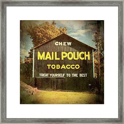 Mail Pouch Barn - Oh 93 #4 Framed Print