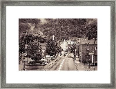 Main Street Webster Springs Framed Print by Thomas R Fletcher