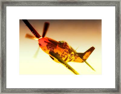 Maj. Chuck Cummins And Chuck Greenhills P-51d Mustang Geraldine Framed Print by Gus McCrea