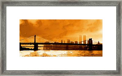 Majestic Skyline Framed Print by Ron Regalado