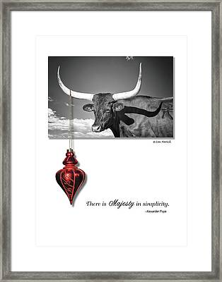 Framed Print featuring the photograph Majesty In Simplicity by Lou Novick