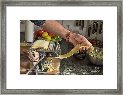 Making Pasta Framed Print by Patricia Hofmeester