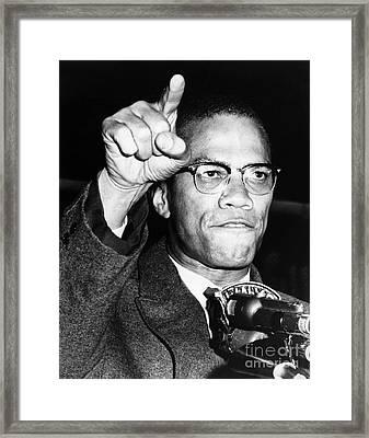 Malcolm X (1925-1965) Framed Print