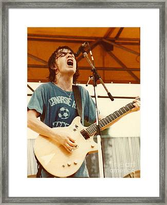 Malcolm Young Of Ac Dc At Day On The Green - July 1979 Framed Print by Daniel Larsen