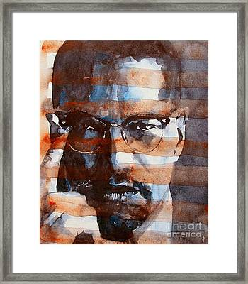 Malcolmx Framed Print by Paul Lovering