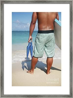 Male Bodyboarder Framed Print by Brandon Tabiolo - Printscapes