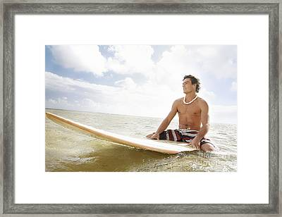 Male Surfer Framed Print by Brandon Tabiolo - Printscapes