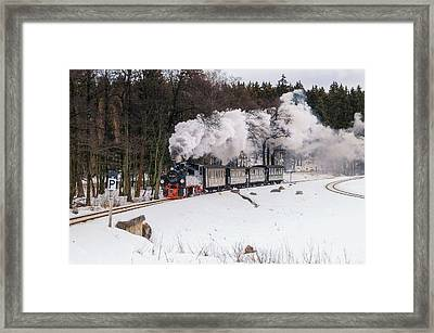 Mallet Locomotive Framed Print by Steffen Gierok