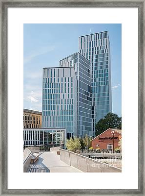 Malmo Live Building Blocks Framed Print by Antony McAulay