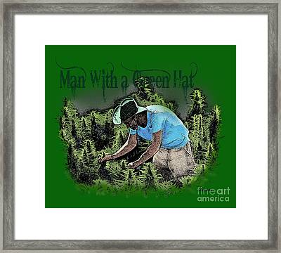Man With A Green Hat Framed Print by Joseph Juvenal