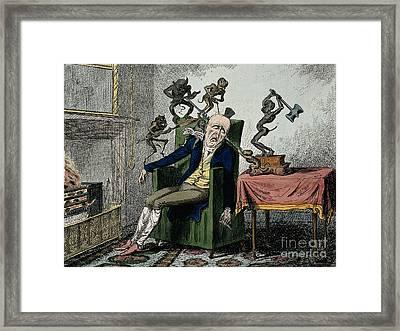Man With Excruciating Headache, 1835 Framed Print