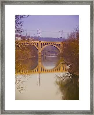 Manayunk Bridge Framed Print by Bill Cannon