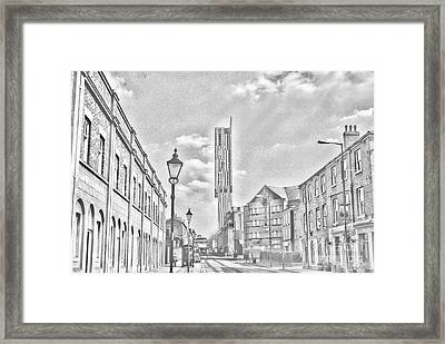Manchester - Beetham Tower Framed Print by Hristo Hristov