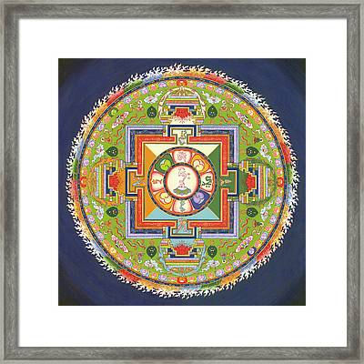 Mandala Of Avalokiteshvara           Framed Print