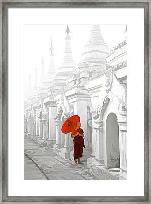 Mandalay Monk Framed Print by Dennis Cox WorldViews