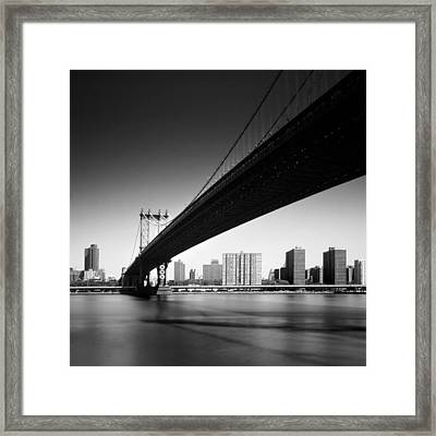 Manhattan Bridge Framed Print by Nina Papiorek