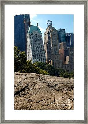 Manhattan Schist Framed Print