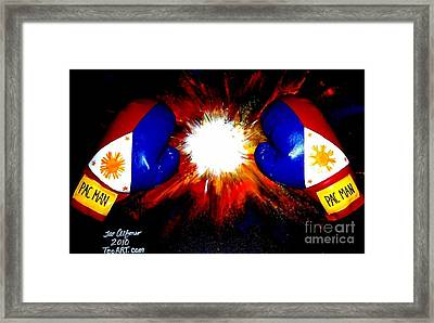Manny Pacman Pacquiao Filipino Boxer Framed Print by Teo Alfonso