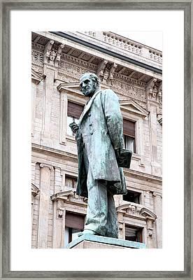 Manzoni Statue Framed Print by Valentino Visentini