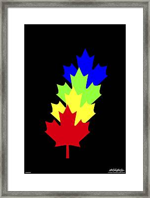 Maple Leaves Framed Print by Asbjorn Lonvig