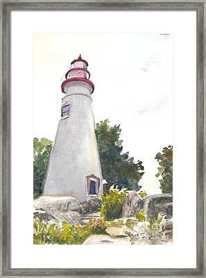 Marblehead Lighthouse Framed Print by Terri  Meyer
