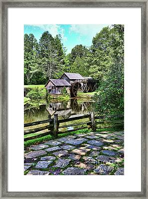 Framed Print featuring the photograph Marby Mill Pathway by Paul Ward