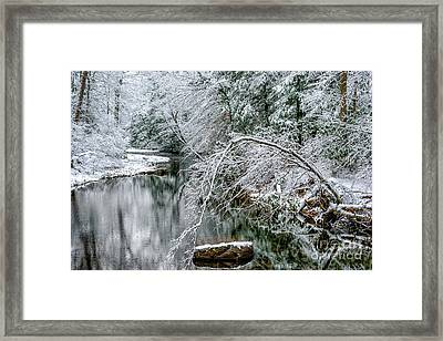 Framed Print featuring the photograph March Snow Cranberry River by Thomas R Fletcher