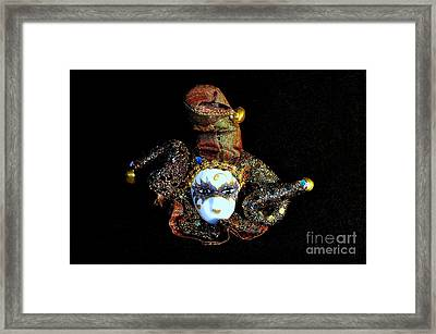 Mardi Gras Jester No 1 Framed Print by Mary Deal