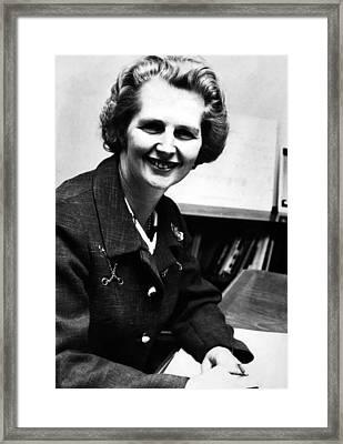 Margaret Thatcher, Future Prime Framed Print by Everett