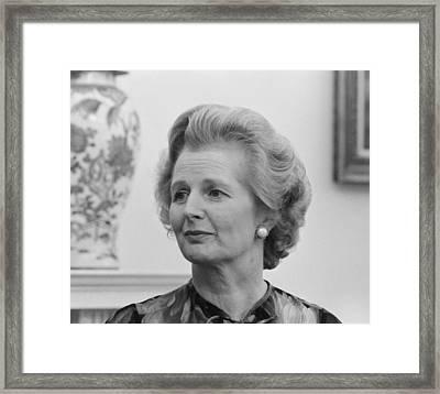 Margaret Thatcher Framed Print by War Is Hell Store