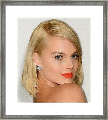 Margot Robbie Painting Framed Print by Best Actors