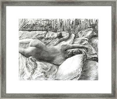 Nude Maria In The Sheets Framed Print by Randy Sprout