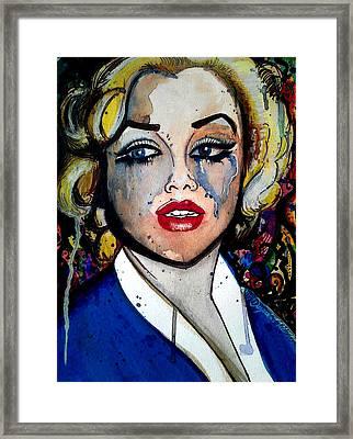 Marilyn Anxiety Or Marilyn Pressure Framed Print