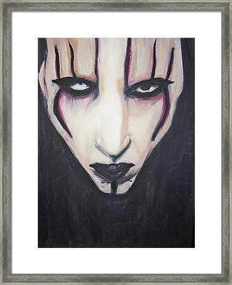 Marilyn Manson Framed Print by Crystal  Rickman