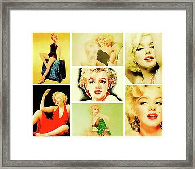 Marilyn Monroe Vintage Hollywood Actress Framed Print by John Springfield