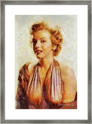 Marilyn Monroe, Vintage Hollywood Actress Framed Print