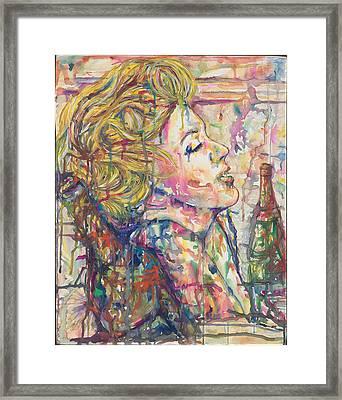 Marilyn's Medicine Framed Print by Joseph Lawrence Vasile
