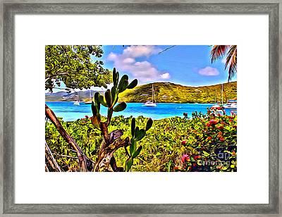 Marina Cay Framed Print by Carey Chen