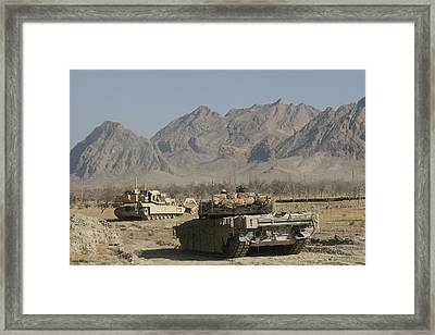 Marines Conduct Combat Operations Framed Print