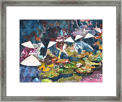 Framed Print featuring the painting Market Fresh by Yolanda Koh
