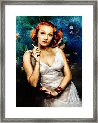 Marlene Dietrich, Vintage Actress Framed Print