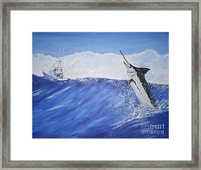 Marlin On Line Framed Print by Bill Hubbard
