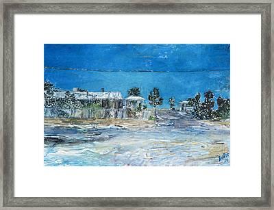 Marree Village Framed Print by Joan De Bot
