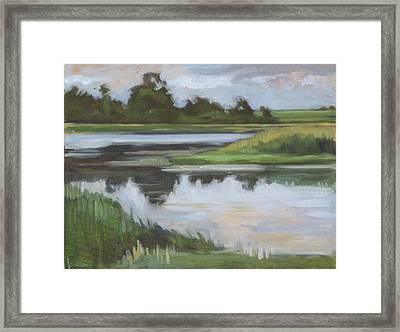 Marsh, June Afternoon Framed Print