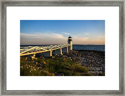 Marshall Point Lighthouse Framed Print by Diane Diederich