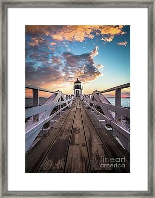 Marshall Point Sky Framed Print by Benjamin Williamson